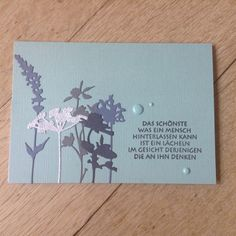 Trauerkarte Sizzix Tim Holtz Wildflowers