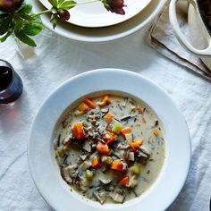 Vegan Cream of Mushroom and Wild Rice Soup Recipe on Food52 recipe on Food52