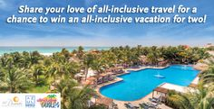 REPIN THIS IMAGE and Enter to Win at http://offers.allinclusiveoutlet.com/karisma-hotels-contest-2013/ Share your love of all-inclusive travel for a chance to WIN a 5-night all-inclusive stay at El Dorado Royale, by Karisma. #aioutlet