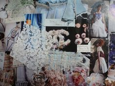 Amanda Harlech's moodboard behind Chanel's S/S 13 collection.