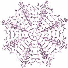 Crochet Pillow Patterns Part 11 - Beautiful Crochet Patterns and Knitting Patterns Crochet Snowflake Pattern, Crochet Pillow Pattern, Crochet Stars, Crochet Snowflakes, Crochet Diagram, Thread Crochet, Filet Crochet, Crochet Motif, Crochet Doilies