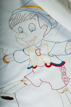 Baby boy blanket Pinocchio-Hand by babysdreamfairytales on Etsy