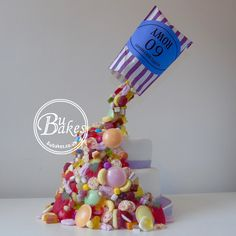 BuBakes' Gravity Defying Cake - Pick n Mix sweets www.bubakes.co.uk