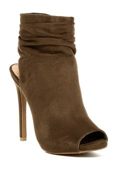 Legend Footwear Olive Evelyn Slouch Booties