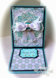 SweetStamps Monthly challenge 12/15/13-Easel Cards; DT Donna K