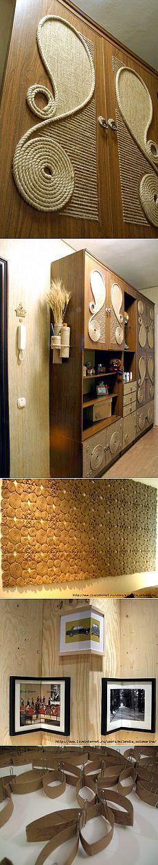 Remaking Junk: Update of the Soviet era - Diy and Crafts Jute Crafts, Diy Arts And Crafts, Diy Craft Projects, Craft Tutorials, Home Decoracion, Handmade Decorations, Diy Home Decor, Sweet Home, Interior Design