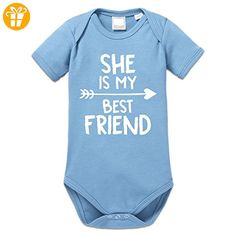 She Is My Best Friend Arrow Baby Strampler by Shirtcity - Baby bodys baby einteiler baby stampler (*Partner-Link)