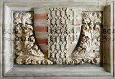 Sepolcro di Ladislao Durazzo - p. (stemma d'Angio') [Ladislao di Durazzo (1386-1413)] -- Tardo gotico, S. Giovanni a Carbonara, Napoli, Italia.