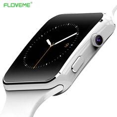 FLOVEME E6 Smart Watch On Wrist Bluetooth Smartwatch For Android For Samsung Huawei Sony Xiaomi Sim TF Card Sleep Tracker Adult //Price: $25.92//     #shop