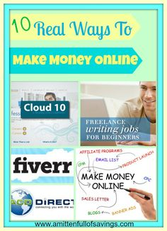 10 Ways to Make Real Money At Home - A Mitten Full of Savings #wahm #workfromhome #makemoneyfromhome