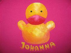 Bodys - Ente mit Namen / Langarmshirt / Longsleeve - ein Designerstück von mmshirts bei DaWanda