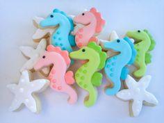 Seahorse and Starfish Mini Sugar Cookies