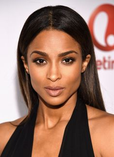 Ciara opted for a simple, classic center-parted hairstyle when she attended Billboard's Women in Music event.
