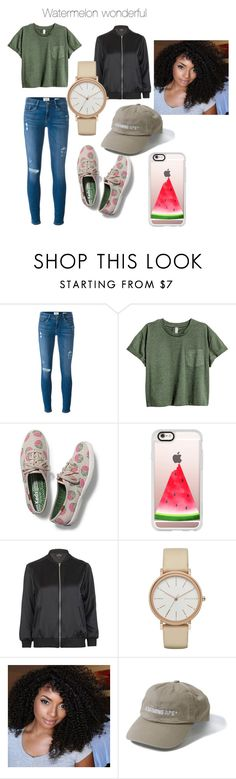 """Untitled #64"" by frankie-mears ❤ liked on Polyvore featuring Frame Denim, Keds, Casetify, Topshop and Skagen"