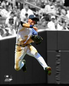 Derek Jeter Airborne (2009) New York Yankees Premium Poster Print - Photofile 16x20