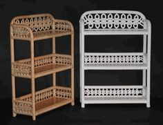 3-Tier Wall Shelf via @wickerparadise #bathroom #wicker #shelf #lace www.wickerparadise.com