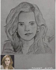 #12 Pencil Art~ #emmawatson #harrypotter #hermionegranger #fanart  #pencildrawing #artlife #art_4share #artstalentz #art_4_shoutout #artsgallery #worldofartists #young_artist_help#johnnys_artbook