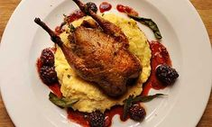The weekly recipe: Partridge with blackberries and soft sage polenta Lunch Recipes, Meat Recipes, Cooking Recipes, Partridge Recipe, Wild Game Recipes, Good Food, Yummy Food, English Food, Meals For The Week