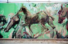 Skount, Cerezo and Laguna New mural in Barcelona — Urbanite Urban Life, Urban Art, Arts Integration, Street Artists, Types Of Art, Banksy, Illusions, Scene, Painting