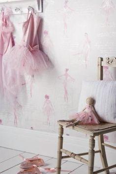 Pirouette-Pink-Ballerina-Kids-Childrens-Girls-Glitter-Feature-Wallpaper-668200