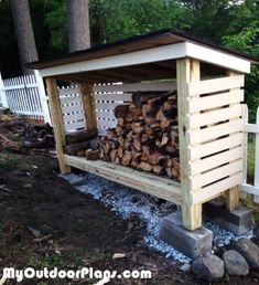 DIY Backyard Firewood Shed MyOutdoorPlans Free Woodworking Plans and Projects DIY Shed Wooden Playhouse Pergola Bbq Diy Pergola, Building A Pergola, Building A Shed, Pergola Ideas, Building Plans, Cheap Pergola, Build A Playhouse, Wooden Playhouse, Backyard Sheds