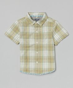 Love this Green & White Plaid Button-Up - Infant & Toddler on #zulily! #zulilyfinds