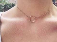 Valentines 15% Off Sale 14K Gold Circle Infinity by GramercyEight