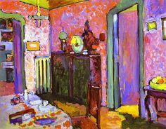 Kandinsky, Wassily - Interior (My dining room) - 1909   Flickr - Photo Sharing!