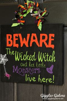 Easy DIY Beware Halloween Sign
