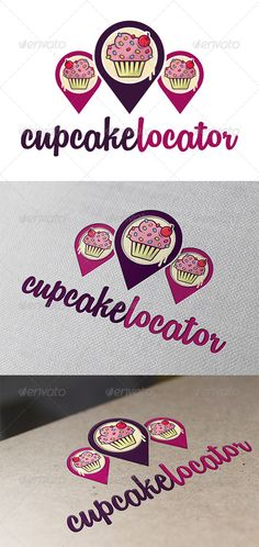 Cupcake Locator Logo Template #GraphicRiver - Three color version: Color, greyscale and single color. - The logo is 100% resizable. - You can change text and colors very easy using the named and organized layers that includes the file. - The typography used is remachine script you can download here: .dafont /es/remachine-script.font Created: 12August13 GraphicsFilesIncluded: VectorEPS #AIIllustrator Layered: Yes MinimumAdobeCSVersion: CS Resolution: Resizable Tags: bakeries #bakery #business…