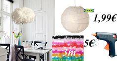DIY IKEA hack - feather lamp shade - Designer Lampenschirm selber machen 7€