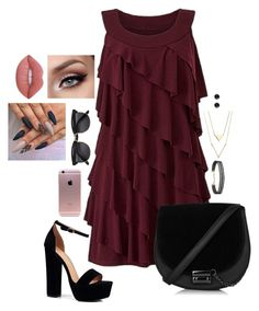 """""""♡"""" by haymay2000 on Polyvore featuring Boohoo, Humble Chic, Irene Neuwirth and Lime Crime"""