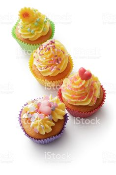 Pastry: Cupcakes Isolated on White Background royalty-free stock photo