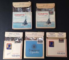 R1491-Canada-lot-of-5-empty-cigarette-packs-1940s