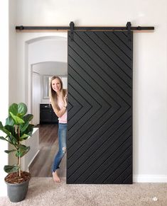 Contemporary decor idea 4862656859 dazzling notes for a warm diy contemporary home decor barn doors contemporary home decor tips shared on this fun day Barn Door Garage, Diy Barn Door, Diy Door, Diy Sliding Door, Contemporary Garage Doors, Modern Barn, Contemporary Home Decor, Modern Garage Doors, Barn Door Designs