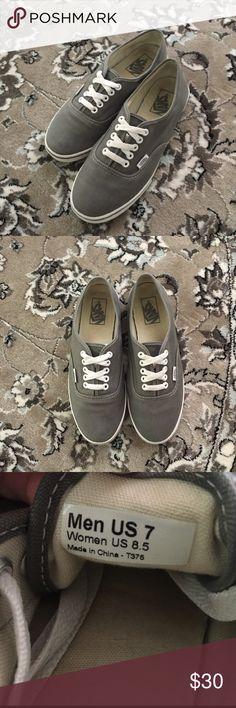 Grey Vans Grey Vans, worn but still in great condition. Women's size 8.5 Men's size 7 Vans Shoes Sneakers