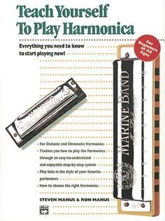 Alfred's Teach Yourself to Play Harmonica - Book, Enhanced CD and Harmonica and more Harmonicas At Cascio Interstate Music Guitar Tips, Guitar Songs, Guitar Chords, Guitar Art, Acoustic Guitars, Guitar Quotes, Les Paul, Harmonica Lessons, Music Lessons