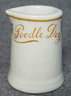 Poodle Dog Cafe Hotel Restaurant Advertising Individual China Creamer Canada