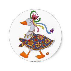 Goose Goes Out Ukrainian Folk Art Sticker  #ukrainian #ukrainiangifts #Gifts http://www.zazzle.com/ctek101*
