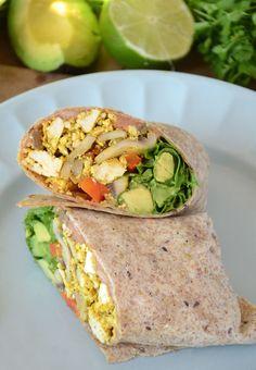 Healthy Vegan Breakfast Burritos http://www.runningonrealfood.com/healthy-vegan-breakfast-burritos/