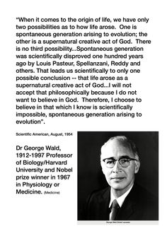 A scientist who realized that creation is the only feasible way that life got here, but supports evolution just so that he doesn't have to worship or believe in God. It's his right to worship whomever he wants or not-- but at least he admits that the only possible way life got here was because of God's creation.