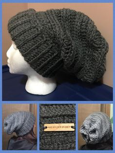 Chunky crochet slouchy hat #chunky #slouchyhat #crochet #madebyme