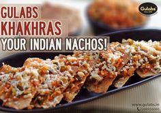 Different ways to use our khakhras !!  #Gulabs #Khakhras #food #tasty #Nachos
