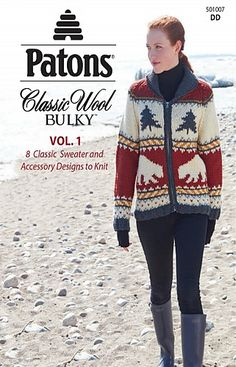 Patons Classic Wool Bulky, Vol. 1 - Classic Sweaters Hats Cowl & Scarf To Knit Crochet Pattern Central, Knitting Patterns Free, Crochet Patterns, Free Knitting, Patons Classic Wool, Sweater Hat, Knit Sweaters, Knitting Supplies, Cowl Scarf
