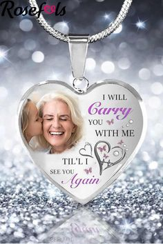 Funeral Memorial, Memorial Gifts, Guardian Angel Pictures, Blessed Quotes, Memorial Ornaments, See You Again, Christian Jewelry, Photo Heart, Shopping Sites