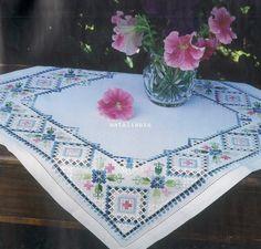 Всем, кто вяжет, дарю старые идеи для новых работ - Хардангер цветной .......................................