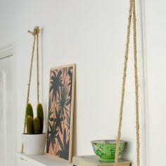 DIY easy rope shelf tutorial @burkatron