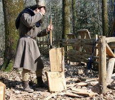 Producing planks for first floor's construction of the lord's house, Guédelon…