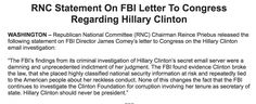 Just After FBI Let Hillary Clinton Off the Hook, RNC Makes SHOCKING Announcement!