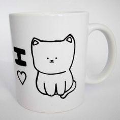Kubek I Love Cat